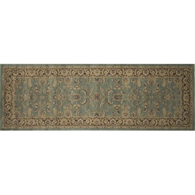 Stanley Hand-Knotted Blue/Brown Area Rug Rug Size: Runner 26 x 79