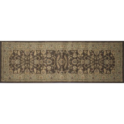 Stanley Brown Area Rug Rug Size: 98 x 128