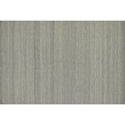 Quays Hand-Woven Gray Area Rug Rug Size: Rectangle 5 x 76