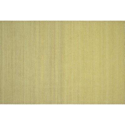 Quays Hand-Woven Citron Gold/Yellow Area Rug Rug Size: Rectangle 5 x 76