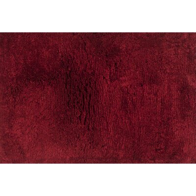 DeGennaro Hand-Tufted Crimson Area Rug Rug Size: Rectangle 36 x 56