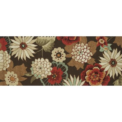 Summerton Hand-Hooked Chestnut Area Rug Rug Size: 2 x 5