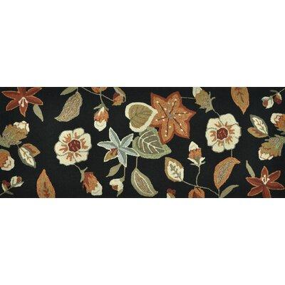 Summerton Hand-Hooked Black/Rust Area Rug Rug Size: 2 x 5