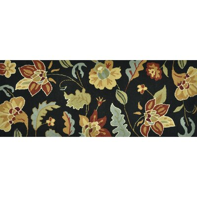 Summerton Hand-Hooked Black/Brown Area Rug Rug Size: 2 x 5