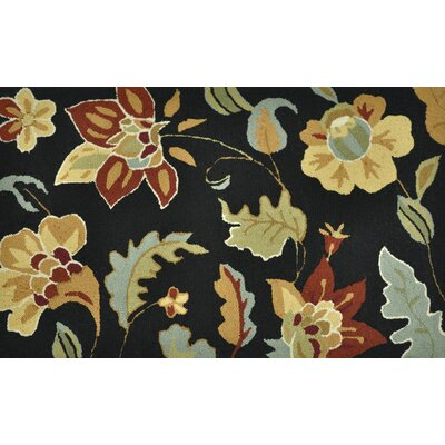 Summerton Hand-Hooked Black/Brown Area Rug Rug Size: 23 x 39