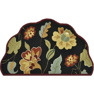 Summerton Hand-Hooked Black/Brown Area Rug Rug Size: Slice 23 x 39
