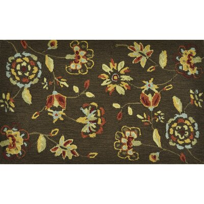 Summerton Hand-Hooked Brown Area Rug Rug Size: 23 x 39