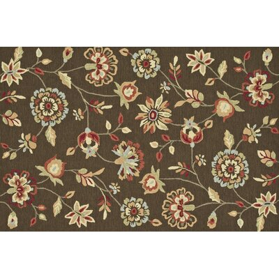 Summerton Hand-Hooked Brown Area Rug Rug Size: 76 x 96
