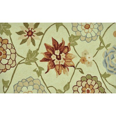 Summerton Hand-Hooked Ivory Area Rug Rug Size: 23 x 39