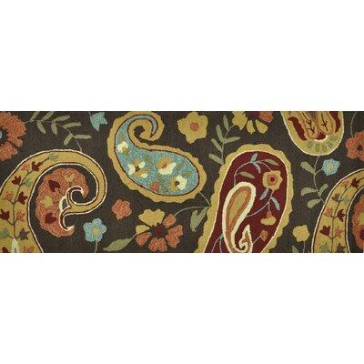 Summerton Hand-Hooked Chocolate Area Rug Rug Size: 76 x 96