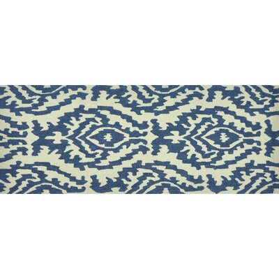 Summerton Hand-Hooked Beige/Blue Area Rug Rug Size: 2 x 5