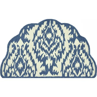 Summerton Hand-Hooked Beige/Blue Area Rug Rug Size: Slice 23 x 39