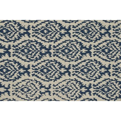 Summerton Hand-Hooked Beige/Blue Area Rug Rug Size: 5 x 76