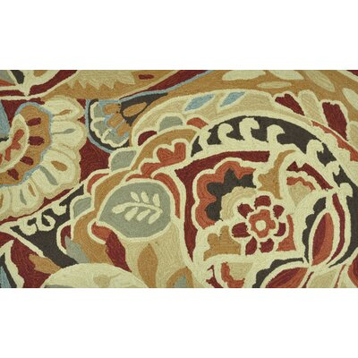 Summerton Hand-Hooked Red/Brown Area Rug Rug Size: 23 x 39