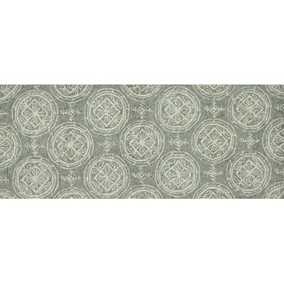 Summerton Hand-Hooked Gray/Ivory Area Rug Rug Size: Rectangle 2 x 5