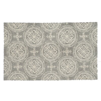 Summerton Hand-Hooked Gray/Ivory Area Rug Rug Size: Rectangle 23 x 39