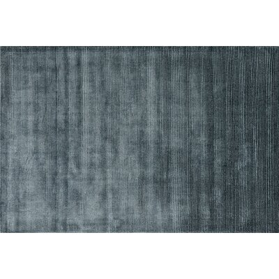 Luxe Hand-Woven Blue Area Rug Rug Size: 5 x 76