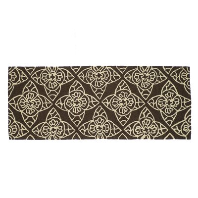 Summerton Hand-Hooked Brown/Ivory Area Rug Rug Size: 2 x 5