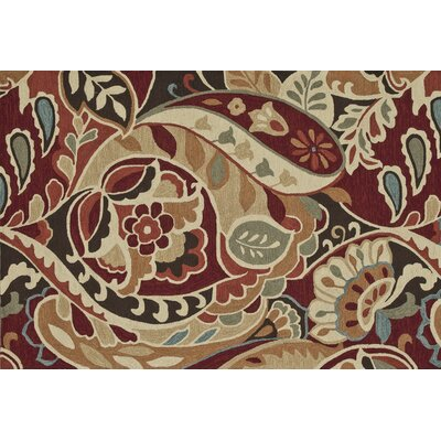 Summerton Hand-Hooked Red/Brown Area Rug Rug Size: 5 x 76