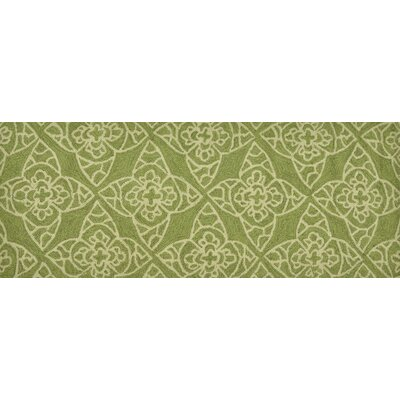 Summerton Hand-Hooked Green/Ivory Area Rug Rug Size: 2 x 5