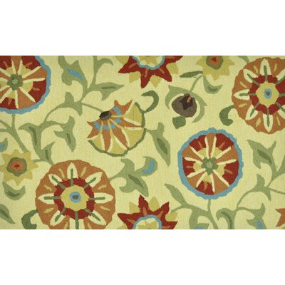 Summerton Hand-Hooked Buttercup Area Rug Rug Size: 23 x 39