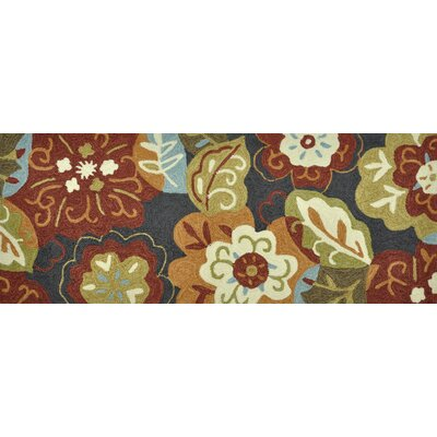 Summerton Hand-Hooked Brown/Red Area Rug Rug Size: 2 x 5