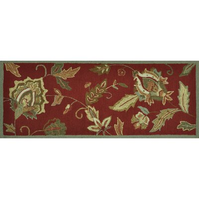 Summerton Hand-Hooked Red Area Rug Rug Size: 2 x 5