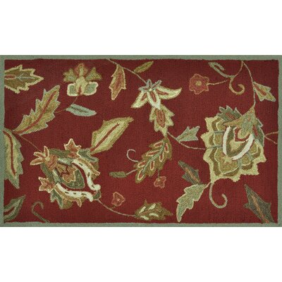 Summerton Hand-Hooked Red Area Rug Rug Size: 23 x 39