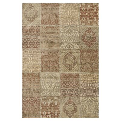 Nyla Cinnamon/Beige Area Rug Rug Size: Rectangle 33 x 53