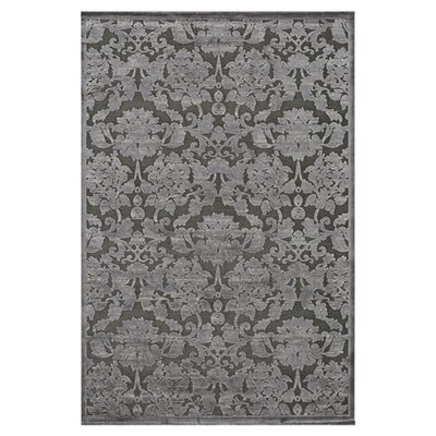 Abasi Black/Gray Floral Area Rug Rug Size: Rectangle 23 x 39