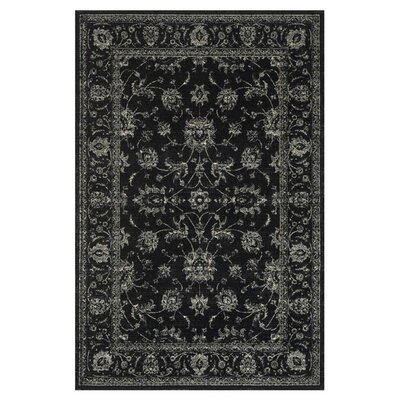 Keever Black Area Rug Rug Size: Rectangle 76 x 105