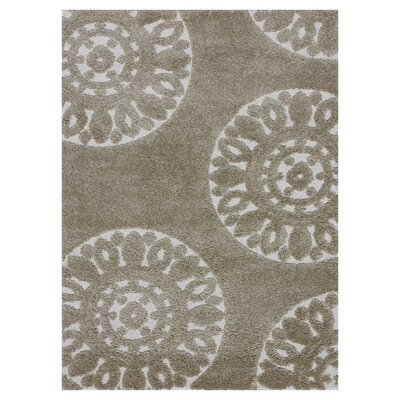 Enchant Beige Area Rug Rug Size: 23 x 39