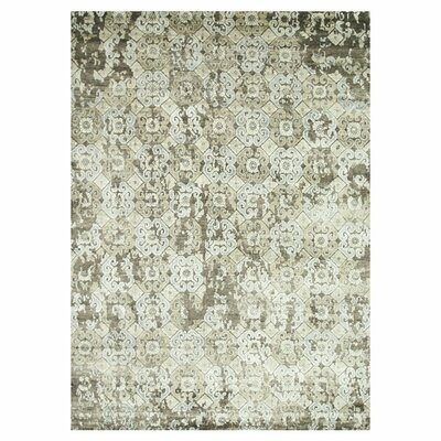 Leffel Hand-Knotted Walnut Area Rug Rug Size: Rectangle 12 x 15