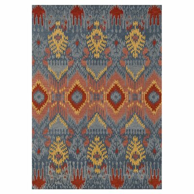 Leyda Hand-Knotted Blue Area Rug Rug Size: 36 x 56