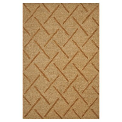Circa Hand-Tufted Gold Area Rug Rug Size: 5 x 76