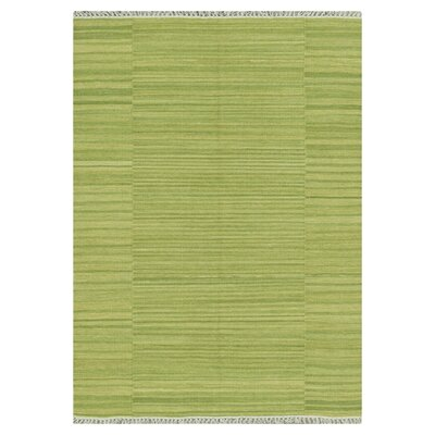 Barret Hand-Woven Green Area Rug Rug Size: Rectangle 36 x 56