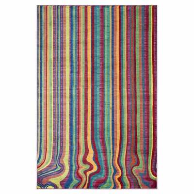 Madeline Blue/Green Area Rug Rug Size: Rectangle 52 x 77