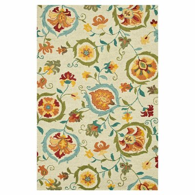 Mayfield Hand Hooked Wool Bright Area Rug Rug Size: 36 x 56