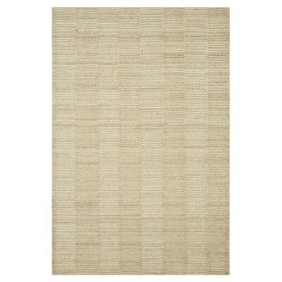 Tamalii Natural Beige Solid Area Rug Rug Size: Rectangle 36 x 56