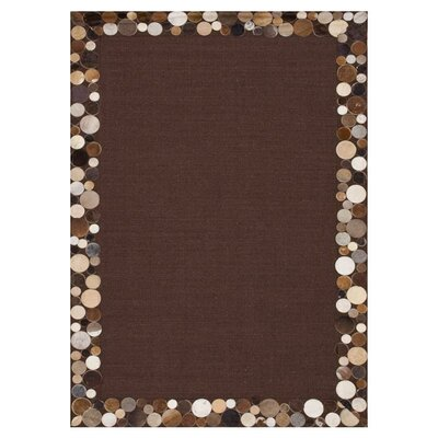 Timboroa Hand-Woven Brown/Pebble Area Rug Rug Size: 76 x 96
