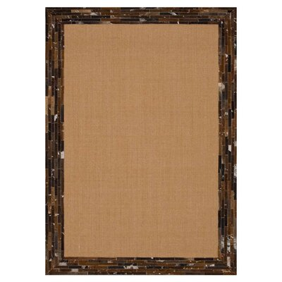 Lipps Hand-Woven Brown Area Rug Rug Size: Rectangle 5 x 76