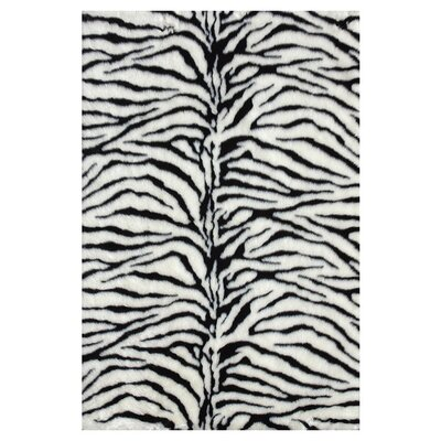 Zamorano Black/White Area Rug Rug Size: Rectangle 2 x 3