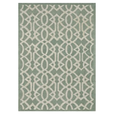 Brighton Hand-Tufted Light Green Area Rug Rug Size: 36 x 56