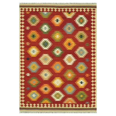 Isara Hand-Woven Red Area Rug Rug Size: Rectangle 5 x 76