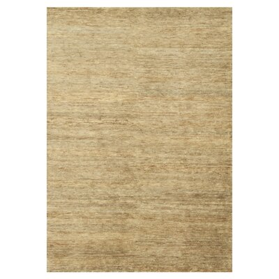 Intrigue Hand-Knotted Beige Area Rug Rug Size: 56 x 86