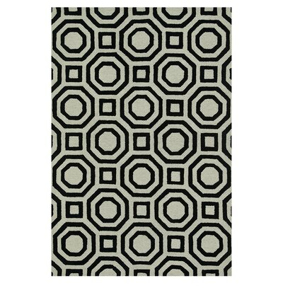 Maziarz Hand-Tufted Ivory/Black Area Rug Rug Size: Rectangle 36 x 56