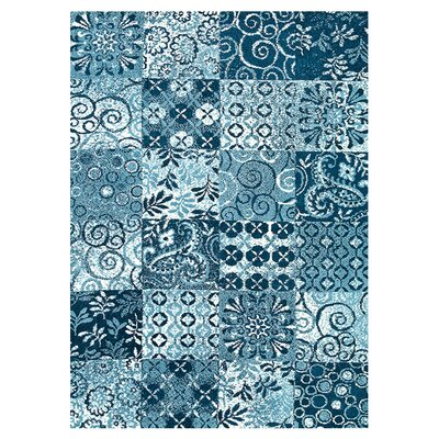 Keiper Blue Area Rug Rug Size: Rectangle 76 x 96