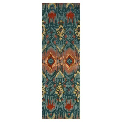 Leyda Hand-Knotted Blue Area Rug Rug Size: Runner 26 x 76