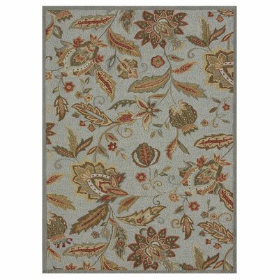 Francesca Hand-Hooked Blue Area Rug Rug Size: Rectangle 2'3
