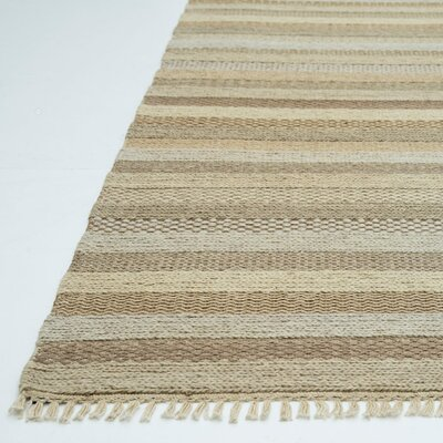 Bartram Hand-Woven Sand/Tan Area Rug Rug Size: Rectangle 5 x 76